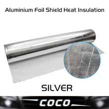 6PCS 50CM*30CM Aluminium Foil Shield Heat Insulation Low Penetration rate Aluminum inflaming retarding construction