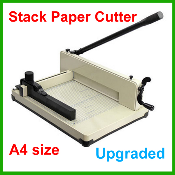 Upgrade New Heavy Duty A4 Size Stack Paper Cutter All Metal Ream Guillotine No Assembly Required 320mm a4 size paper cutter heavy duty all metal ream guillotine paper cutting machine trimmer cutter paper trimmer