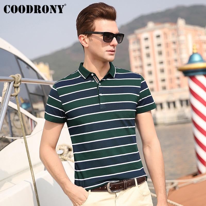 COODRONY Summer Streetwear Casual Mens T-Shirts Soft Cotton T Shirt Men Fashion Classic Striped Short Sleeve T-Shirt S95062