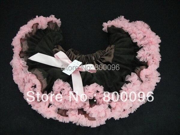 2015 Girls Skirt Wholesale Saias Medina Pink and Black Tulle Skirt of Skirt Kids PETS-012