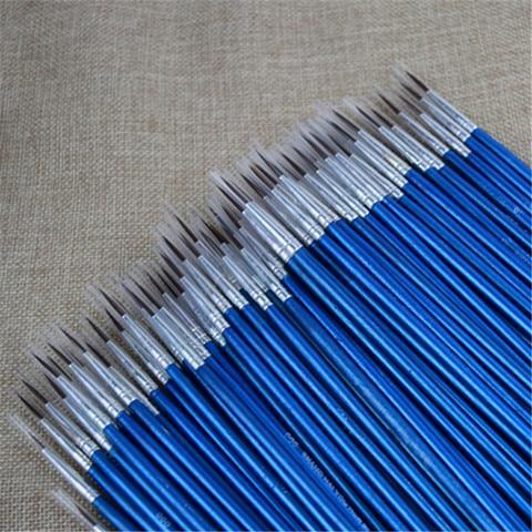 100 pcs profissional conjunto de pincel de pintura de nailon detalhe escovas acrilicas em miniatura