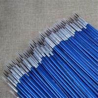 100pcs Professional Nylon Paint Brush Set Detail Miniature Acrylic Brushes New