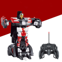 Hot Sales Bugatti Luxury Sportscar Models Deformation Robot Transformation Remote Control RC Car Toys Kids Gift