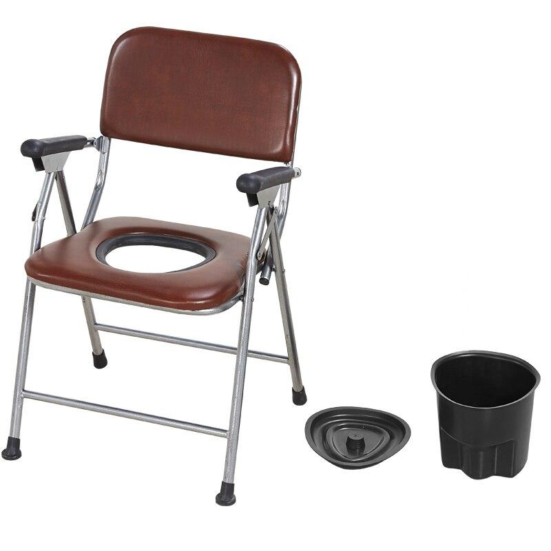 Silla cómoda para el hogar que fortalece la silla antideslizante para personas mayores, silla de orinal con cubrecama, taburete estable para mujeres embarazadas