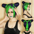 Free shipping JoJo's Bizarre Adventure Stone Ocean Kujo Jolyne Cujoh Cosplay Wig Short Blue And Green Mixed Color Cosplay Wigs