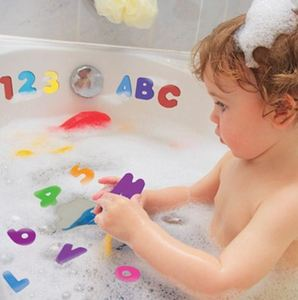 36pcs/set Alphanumeric Letter Puzzle Bath Toys Soft EVA Kids Baby Bathroom Water Toys Early Educational Suction Up Bathing Toy