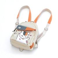 Harajuku Hot Anime Kawaii Natsume's Book of Friends Cat Teacher Printing Denim Mini Backpacks for Girls Mochila School Bags