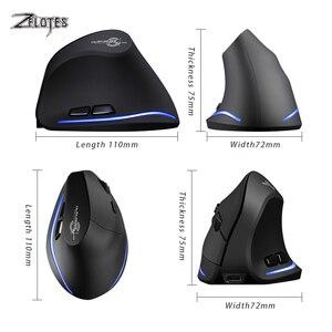 Image 5 - Fare Raton Zelotes F 35 2.4GHz dikey kablosuz şarj edilebilir usb 2400DPI 6 düğme oyun bilgisayarı fareler dizüstü PC için