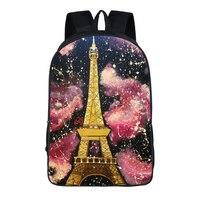 16 Inch Eiffel Tower Prints Backpack For Teenagers Boys Girls School Bags Travel Bag Children School Backpacks Gift