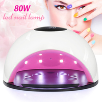 80W UV Led Lamp Nail Dryer for All Types Gel Lamp 36 Leds led lamp nail for Nail Machine Curing USB Connector Uv Nail Lamp