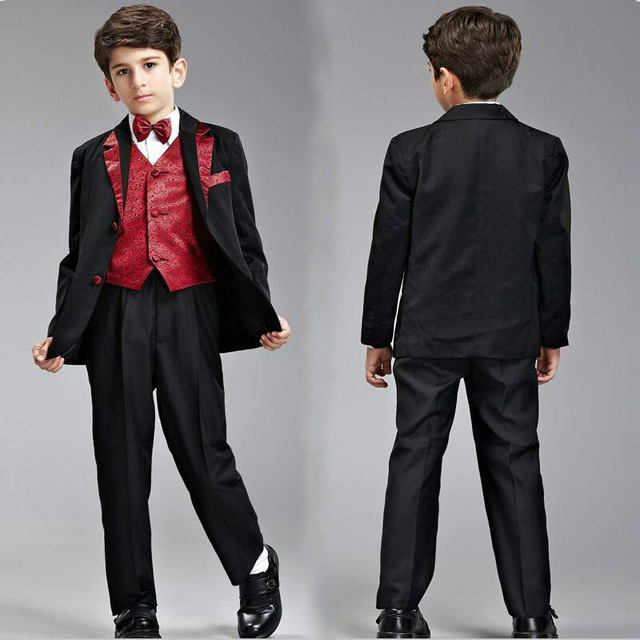 2064c1c4fe2 Boys Suits For Weddings Kids Tuxedo Suit Formal Blazers For Boys Kids Suits  And Blazers Boys White Red Black Blazer Set 2-14Y