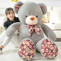 80cm Teddy bear doll plush toys print hugs Giant teddy bears Stuffed Animals Soft Plush Toys birthday gifts