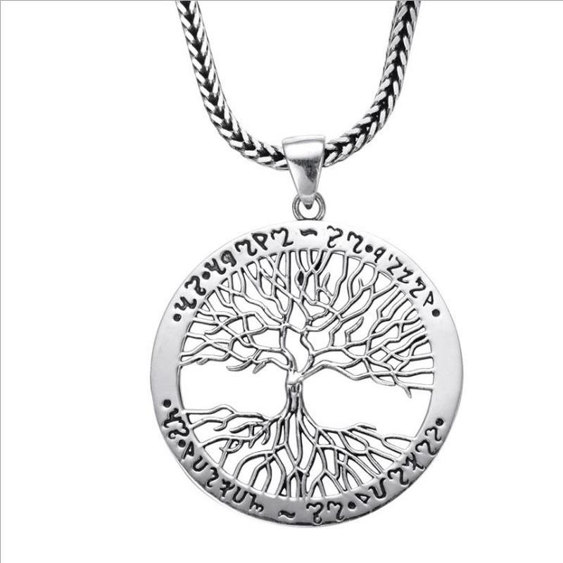 LUKENI Hot Men Silver 925 Clavicle Necklace Jewelry Top Quality Boy Tree Piercing Pendant Necklace For Women Accessories Fashion