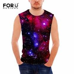 4012ee053a FORUDESIGNS herren Tank Top Männer Bodybuilding Westen 3D Galaxy Star  Universe Raum Drucken Männer Weste Ärmellose Baumwolle Blusa Masculina