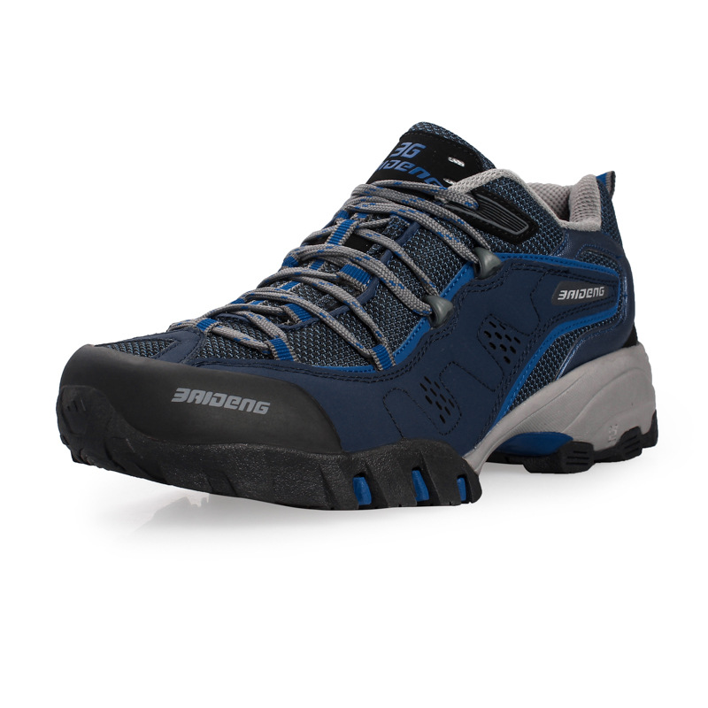 ФОТО Men Hiking Shoes Waterproof leather Shoes Climbing & Fishing Shoes New popular Outdoor shoes