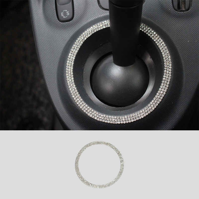 Car Modification Accessories Gear Decoration For Mercedes New Smart Fortwo Forfour 453 Shift Lever Ring Car Styling Sticker