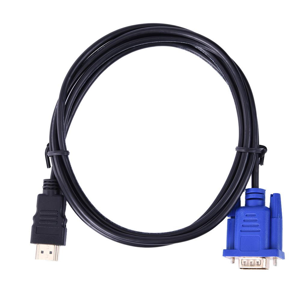 HDMI a VGA HD convertisseur de câble Audio convertisseur macho a hembra 10,2 GB/S PVC HDMI macho a VGA 15 broches 1,8 m para o