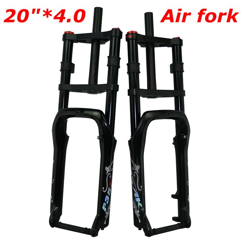 """pasak Double shoulder fat bike fork fat bicycle 20"""" 4.0"""" air forkes Snow MTB Moutain 20inch Bike Fork 135mm magnesium alloy"""