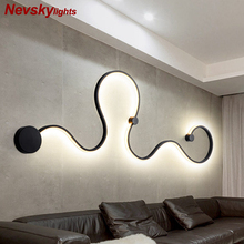 Wall light foyer led sconce snake shaped wall lamp ceiling lamps modern lustre wand lamp ceiling line light led fixtures living