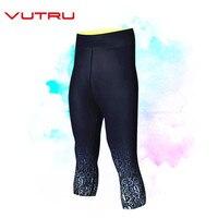 Vutru Calf length Pants Capri Sport Seamless Leggings Women Pant Fitness High Waist Tights Solid Sportswear Gym Running Leggins