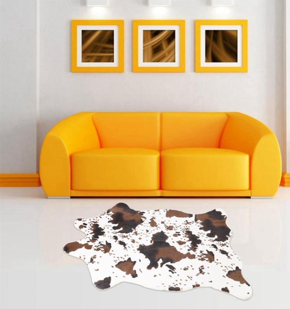 Brown cow print rug roselawnlutheran - Alfombras animal print ...