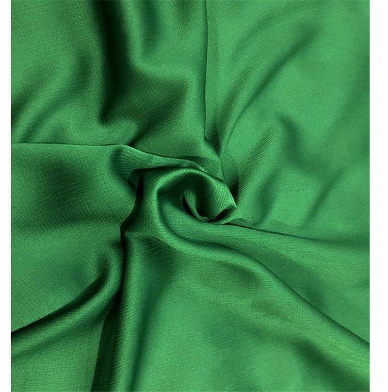 CF567 1 メートルファッション夏グリーンリップストップシフォン生地肌にやさしいクレープデシン生地女性のためのドレスパジャマシャツ