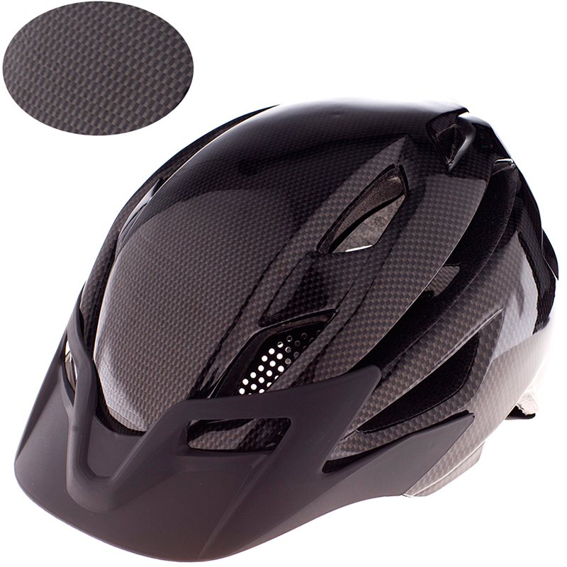 300g Thicken Carbon Fiber MTB Mountain Bike Helmet protective Cycling Road bicycle Sports Helmet in-mold Road Bike 52-59cm image