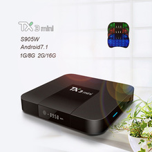 Tanix TX3 Mini Android 7.1 TV BOX Amlogic S905W Quad Core Smart TV Set Box H.265 4K HDMI 2.4GHz WiFi Support  pk x96mini