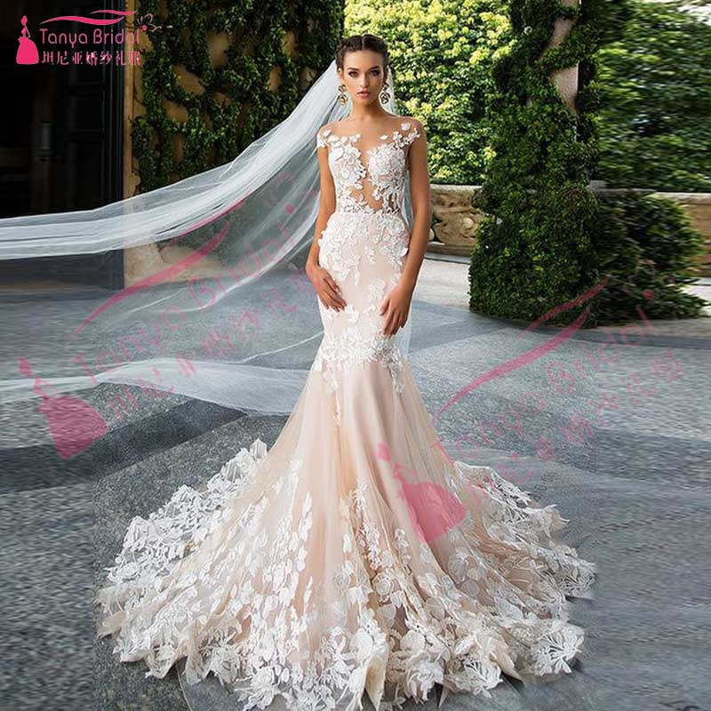 Blush Pink Lace Wedding Gowns: Online Buy Wholesale Blush Bridal Gowns From China Blush