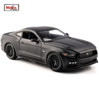 Kids Toys Diecast Matel Car modes Maisto 1:18 Mustang 2015 GT 5.0L American Muscle Car black Sports Cars Models 26cm