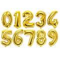 10 Unids Oro 32 Pulgadas Número Digit Foil Globos Del Cumpleaños Globos De Helio Partido del Acontecimiento De La Boda Globo de Aire Inflables de Juguete