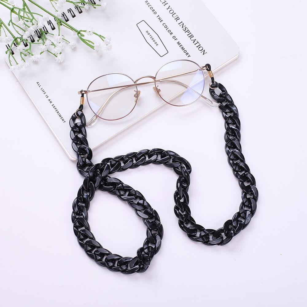 Skyrim Ретро 74 см очки цепь акрил Классический Новый дизайн черный цвет шнурок для очков ремешок ожерелье шнурок для очков для чтения|Очки аксессуары| | - AliExpress