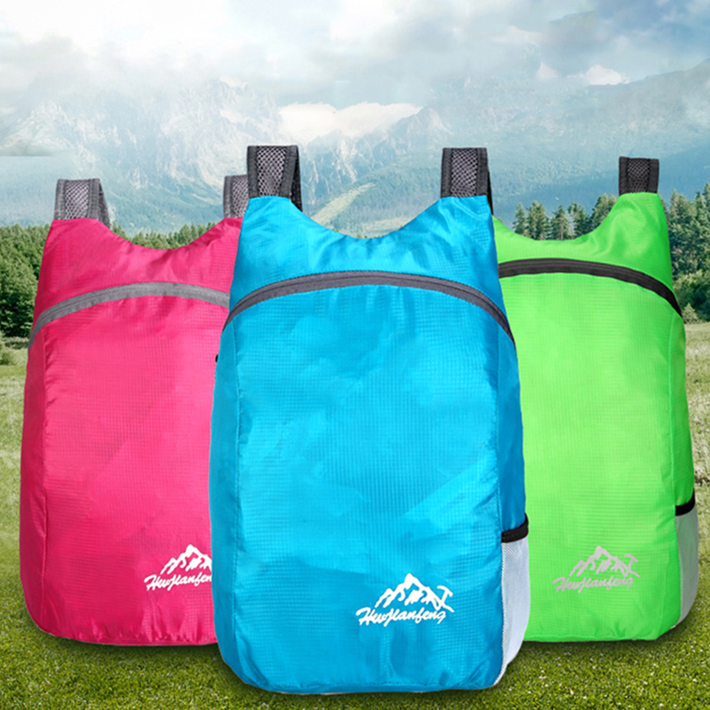 Outdoor Folding Backpack Waterproof Polyester and Breathable Shoulder Strap Light Portable Travel Bag Outdoor 2019