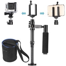 Action Sport Camera Handheld Video Stabilizer Steadycam for Gopro Hero 3 3+ 4 5 for Smartphone Sunsumg iphone 6 7 With Clip