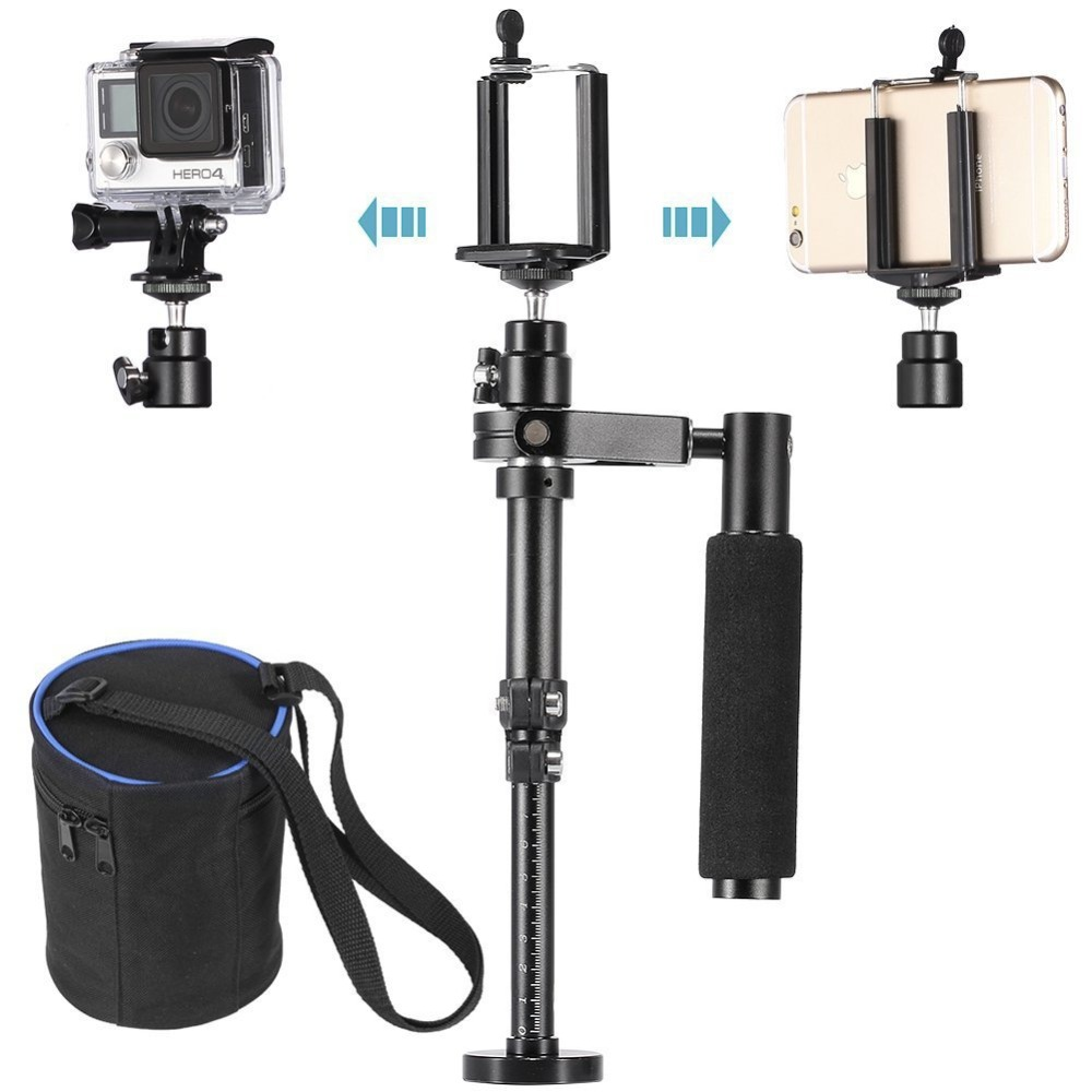 ФОТО Action Sport Camera Handheld Video Stabilizer Steadycam for Gopro Hero 3 3+ 4 5 for Smartphone Sunsumg iphone 6 7 With Clip