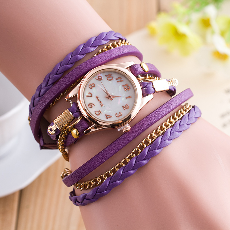 739adc122196f Multi Layer Bracelet Quartz Watch for Girl Gifts Fashion Watches Solid Color  relogio feminino Student Watches for Teenagers saat-in Women s Watches from  ...
