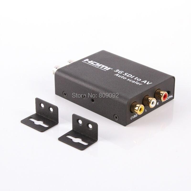 3G SDI to AV Converter BNC to RCA Audio Scaler Support convert SD-SDI,HD-SDI,3G-SDI Signal to Be Shown on Normal TV high quality full hd 1080p 3g sdi to av scaler converter 3g hd sd sdi to r l rca cvbs adapter converter for crt hdtv camera