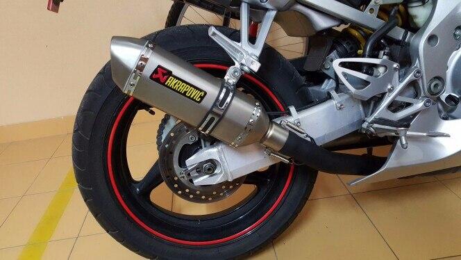 Akrapovic course échappement universel 35-51 MM silencieux tuyau moto évasion adapté à la plupart des motocyclettes ATV Dirt vélo Scooter 125-1000cc - 5