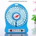 Dropshipping USB Mini ventilador ventilador eléctrico Personal ventiladores LED recargable portátil de escritorio ventilador de refrigeración operado FanWithout batería