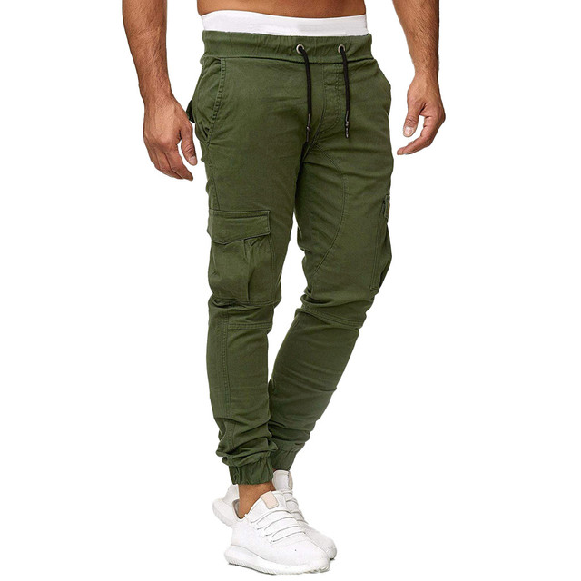 Men White Sweatpants Casual Fitness Track Harem Summer Pants Men Clothing Pantalones