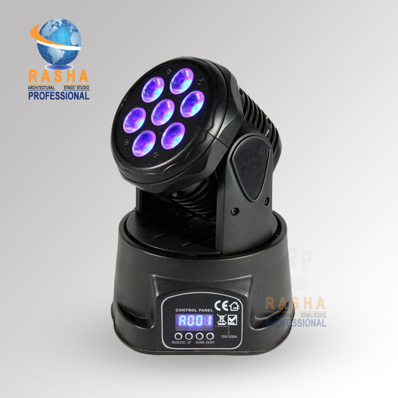Rasha Best Seling-7pcs*12W 4in1 RGBW Mini LED Moving Head Wash Light,Stage Moving Head For DJ Club Party 19 12w high power led rgbw wash light 16 channels ac90 240v moving head light professional stage