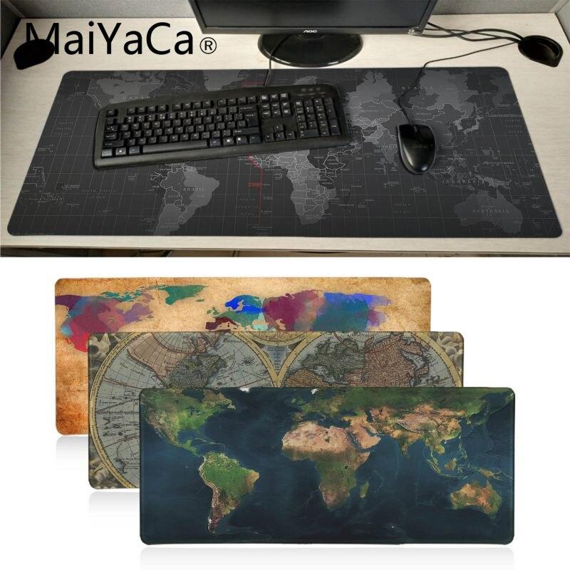 MaiYaCa Boy Gift Personalized Cool Fashion Old World Map Mouse Pad Gamer Play Mats Large Gaming Mouse Pad Gamer