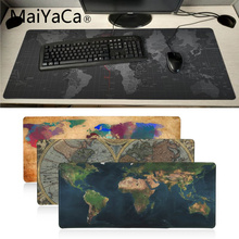 MaiYaCa boy gift Personalized Cool Fashion Old World Map mouse pad gamer play mats Large Gaming Mouse Pad Gamer