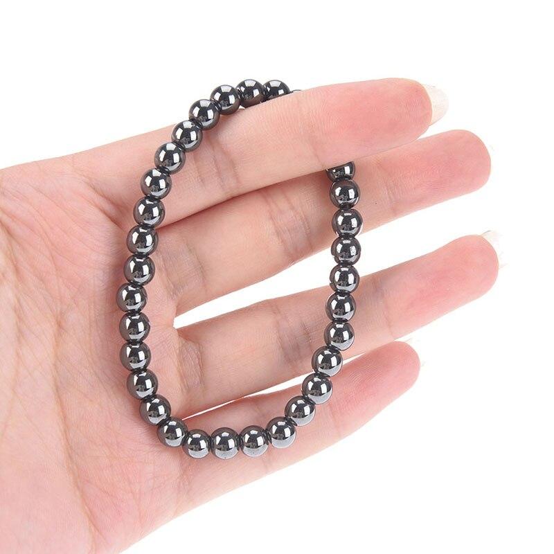 Gewicht Verlust Magnet Armband Schwarz Stein Magnetische Therapie Armband Fußkettchen Abnehmen Produkt Gesundheit Pflege Schlankheits-cremes