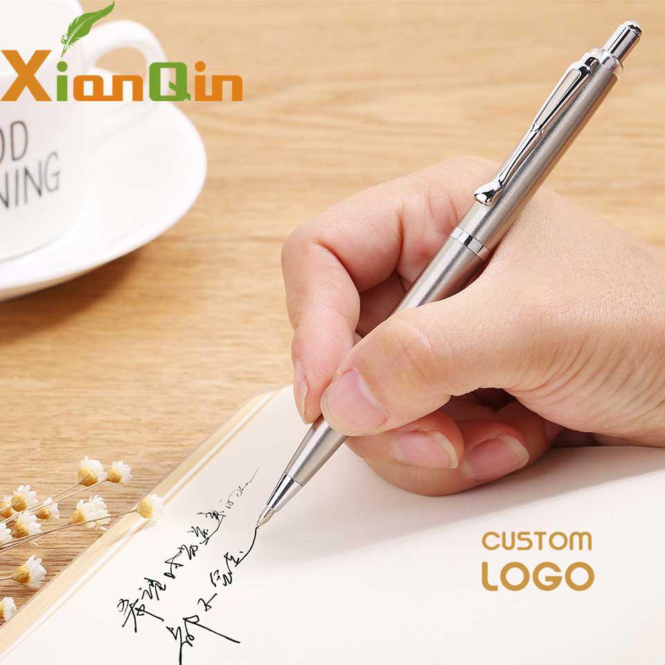 XianQin Metal Luxury Ballpoint Pen 0.7MM Press Refill Pens For Writing Roller Ball Pen Gift Stationery Office School Supplies