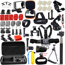 54-in-1 for Gopro equipment Set EVA case Head Strap Monopod For Go professional Hero four 5 three / xiaomi yi motion digicam equipment 12F