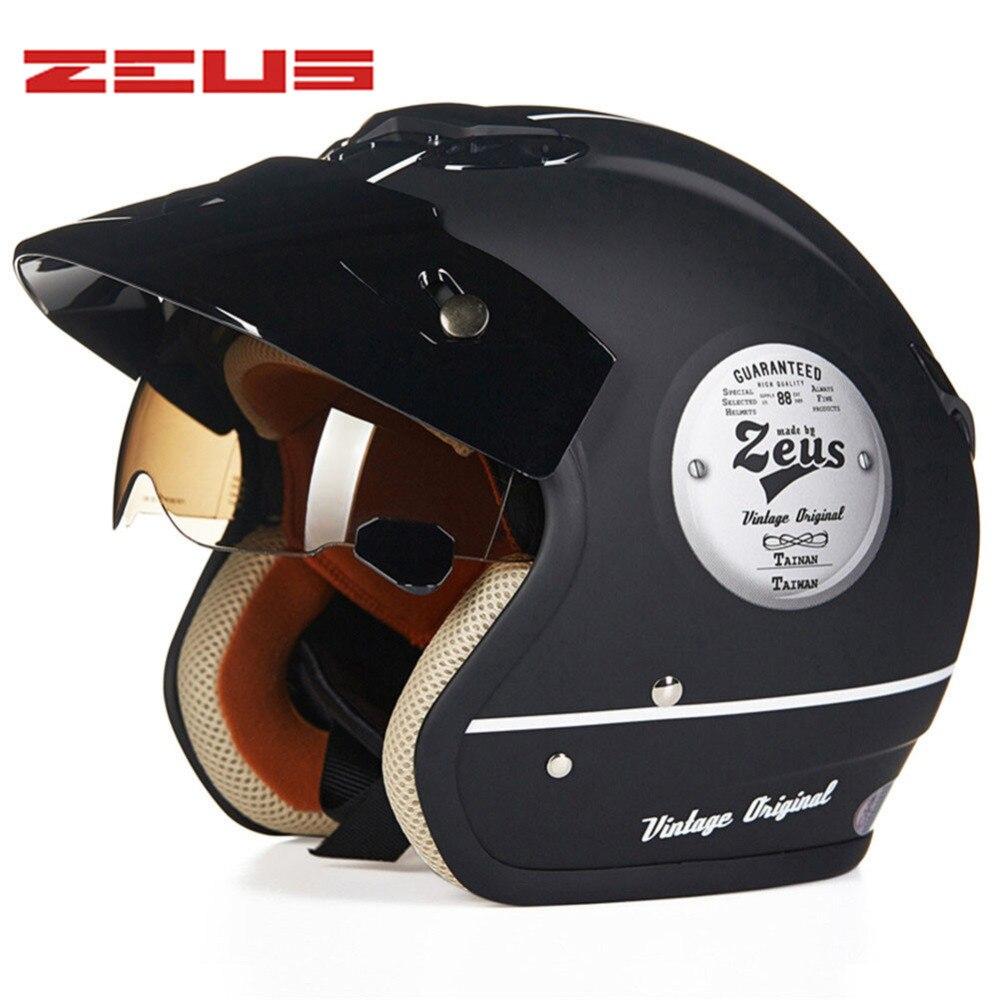 Retro Cruiser Motorrad Helm Chopper 3/4 Offenes Gesicht Vintage Helm 381Z Moto Casque Casco motocicleta Capacete Pilot helme