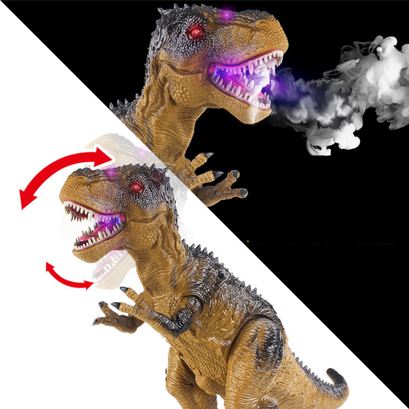 Control remoto caminar dinosaurio juguete fuego respiración agua Spray regalo de navidad niños juguete de alta calidad QA