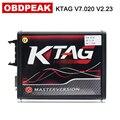 Онлайн-Программируемый программатор ECU Ktag 7 020 с 4 светодиодный платой V2.23 Red PCB  основная версия  100% без маркера  ECM
