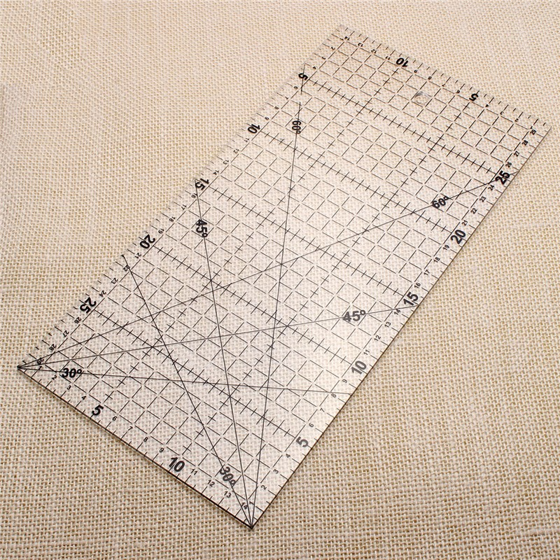 1pcs 15*30CM Patchwork Ruler Office School Supplies Educational Supplies Drafting Supplies 30cm Rulers Sewing Tools Accessory